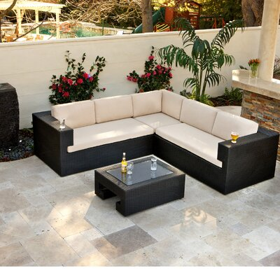 Cockrum 4 Piece Lounge Seating Group with Cushions