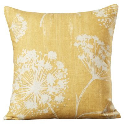 Willsbridge Floral Cotton Throw Pillow Color: Butterscotch, Size: 18x18