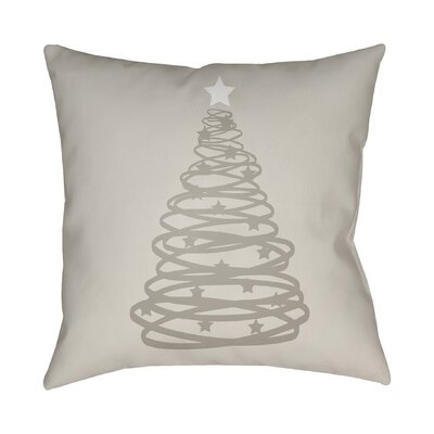 Montagna Winter Tree Indoor/Outdoor Throw Pillow Size: 20 H x 20 W x 4 D, Color: Gray / White