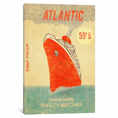 Atlantic Safety Matches Vintage Advertisement on Wrapped Canvas