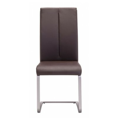 Braatz Side Chair Upholstery: Brown