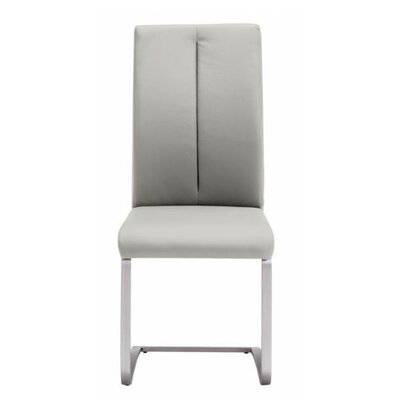 Braatz Genuine Leather Upholstered Dining Chair Upholstery: Taupe