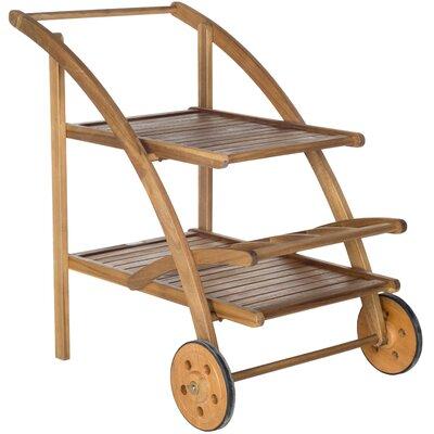 Hannah Acacia Serving Cart