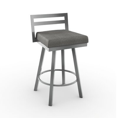 Penton 26.75 Swivel Bar Stool Upholstery: Light Cold Gray