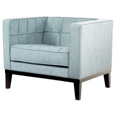 Verdi Tufted Armchair Color: Spa Blue