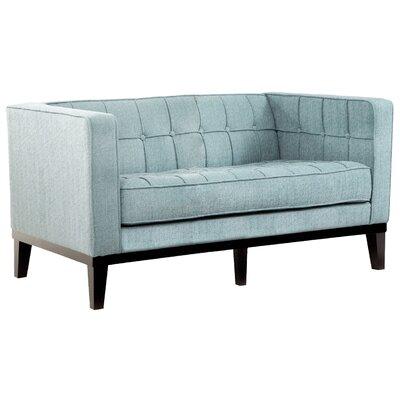 Verdi Tufted Chesterfield Loveseat Upholstery: Spa Blue