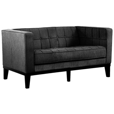 Verdi Tufted Chesterfield Loveseat Upholstery: Charcoal