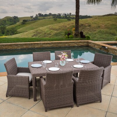 Bair 7 Piece Dining Set with Cushions