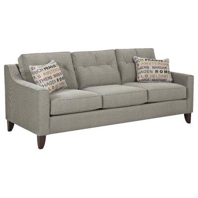 Bencomo Sofa Upholstery: Battleship Lettera Zinc