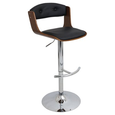 Cusumano Swivel Bar Stool Upholstery: Walnut / Black