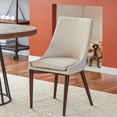 Bedoya Parsons Chair Upholstery: Bone White