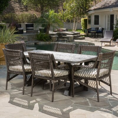 Calton 7 Piece Dining Set with Cushions