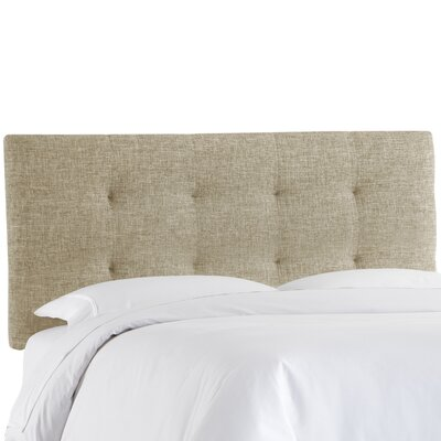 Castellon Tufted Upholstered Panel Headboard Size: Full, Upholstery: Linen