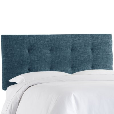 Castellon Tufted Upholstered Panel Headboard Size: Full, Upholstery: Navy