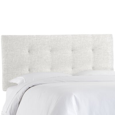 Castellon Tufted Upholstered Panel Headboard Size: Full, Upholstery: White