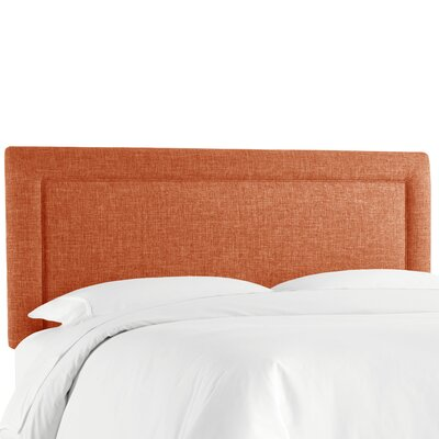 Cansler Border Upholstered Panel Headboard Size: Queen, Upholstery: Zuma Navy