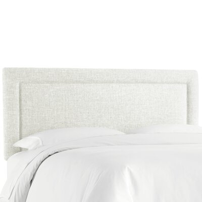 Cansler Border Upholstered Panel Headboard Size: Full, Upholstery: Off-White