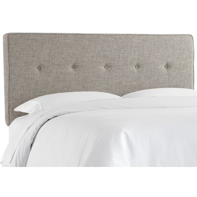 Deforest Tufted Upholstered Panel Headboard Size: Twin, Color: Zuma Feather