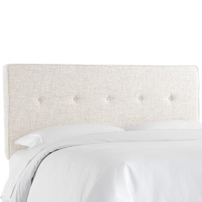 Cambra Tufted  Upholstered Panel Headboard Size: King, Upholstery: Zuma White