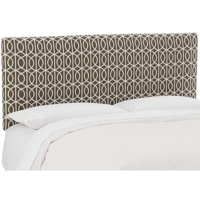 Gladney Upholstered Panel Headboard Size: Twin, Upholstery: Bella Porte Brindle