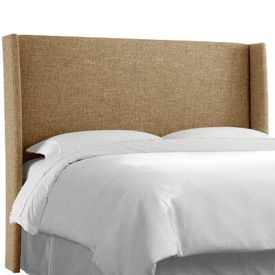 Dilbeck  Upholstered Wingback Headboard Size: King, Upholstery: Zuma Linen
