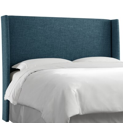 Dilbeck  Upholstered Wingback Headboard Size: California King, Upholstery: Zuma Navy