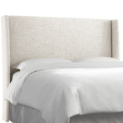 Dilbeck  Upholstered Wingback Headboard Size: California King, Upholstery: Zuma White