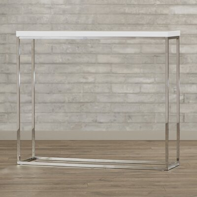 Brayden Studio Console Table Finish: White Lacquer
