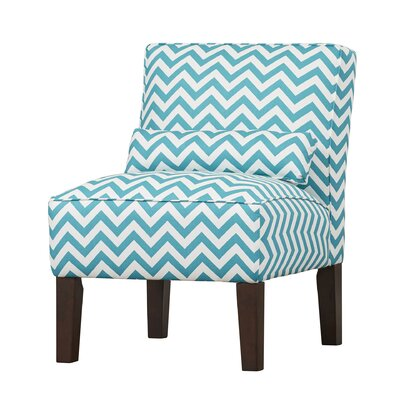Thurston Slipper Chair Upholstery: Zig Zag  True Turquoise
