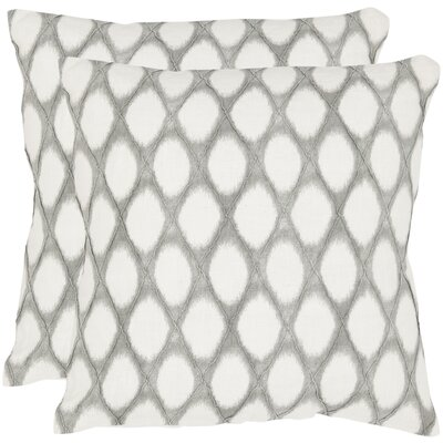 Meleze Linen Throw Pillow Size: 18