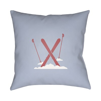 Square Indoor/Outdoor Throw Pillow Size: 18 H x 18 W x 4 D, Color: Blue / Red / White