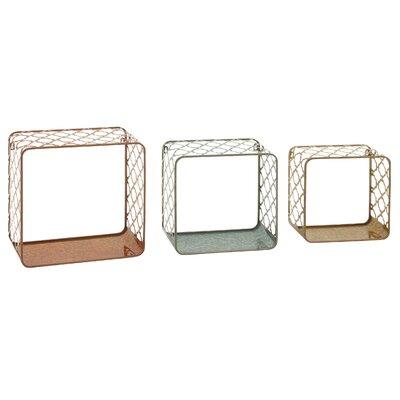 3 Piece Designed Wall Shelf Set