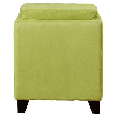 Nicholson Cube Storage Ottoman Upholstery: Green