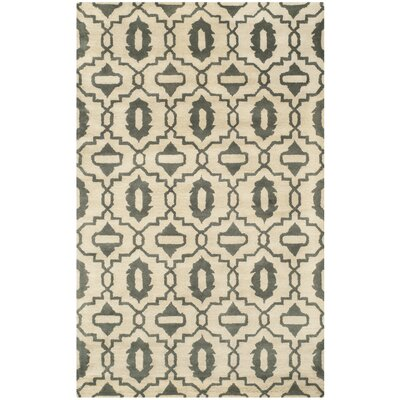 Longe Hand-Tufted Wool Beige/Gray Area Rug Rug Size: Rectangle 8 x 10