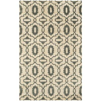 Longe Hand-Tufted Beige/Grey Area Rug Rug Size: 8 x 10