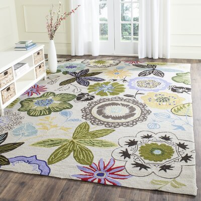 Hartwell Hand-Hooked Rectangle Indoor/Outdoor Area Rug