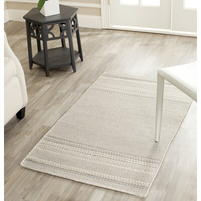 Butters Hand-Woven Grey/Ivory Area Rug Rug Size: Rectangle 2 x 3