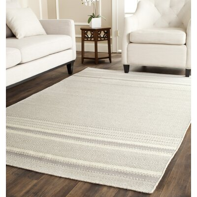 Butters Hand-Woven Grey/Ivory Area Rug