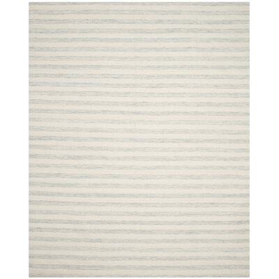 Crawford Hand-Woven Light Blue/Ivory Area Rug Rug Size: Rectangle 5 x 8