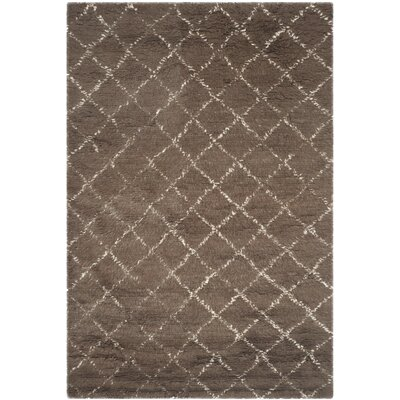 Lohan Hand-Woven Dark Grey/Ivory Area Rug Rug Size: 8 x 10
