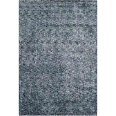 Kovac Hand-Knotted Blue Area Rug Rug Size: 9 x 12