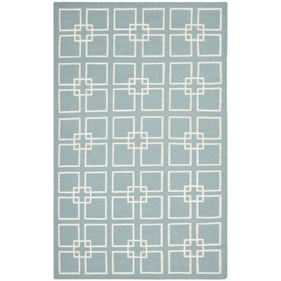 Dance Hand-Tufted Geyser Blue Area Rug Rug Size: 5' x 8'