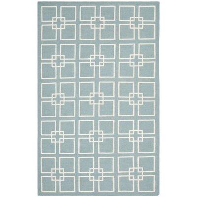 Dance Hand-Tufted Geyser Blue Area Rug Rug Size: 4' x 6'