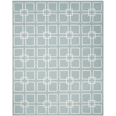 Square Dance Geyser Blue Area Rug Rug Size: Rectangle 9 x 12