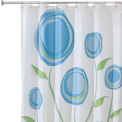 Caggiano Shower Curtain Color: Blue/Green