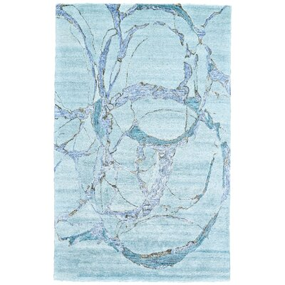 Griffin Hand-Tufted Polar Area Rug Rug Size: 36 x 56