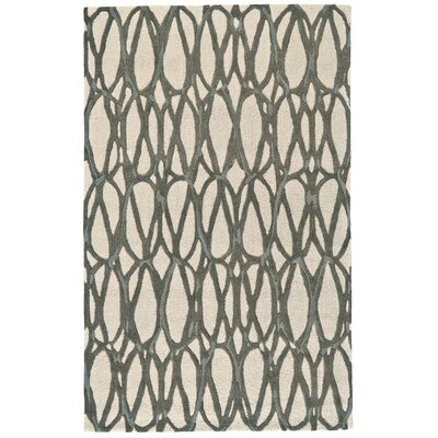 Blacke Hand-Tufted Titanium Area Rug Rug Size: Rectangle 5 x 8