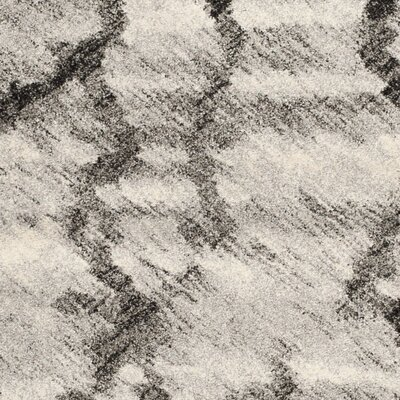 Marburger Light Grey/Black Area Rug Rug Size: 3' x 5'