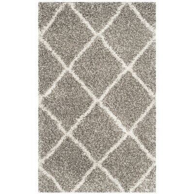 Duhon Gray Area Rug Rug Size: Rectangle 10 x 14