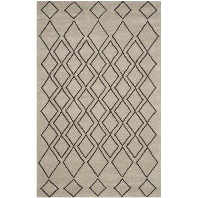 Cherico Hand-Tufted Light Gray/Dark Gray Area Rug Rug Size: Rectangle 76 x 96
